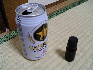 アロマオイルと空き缶